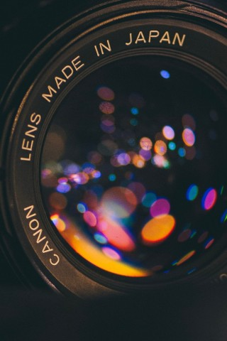 Macro image of camera lens HD Wallpaper