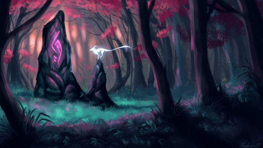 Magic Forest Hd Wallpaper Wallpapersnet