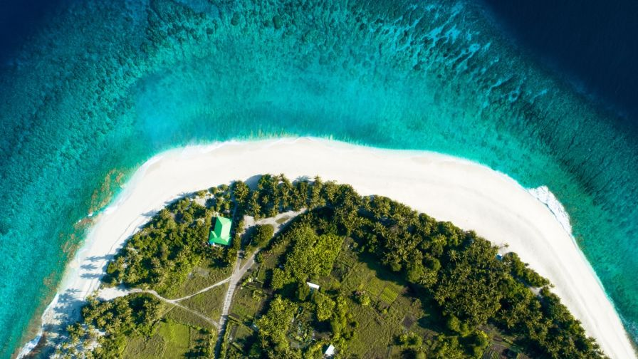 Maldives Aerial View Hd Wallpaper Wallpapers Net