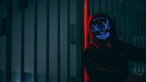 Man with mask staring at the camera HD Wallpaper