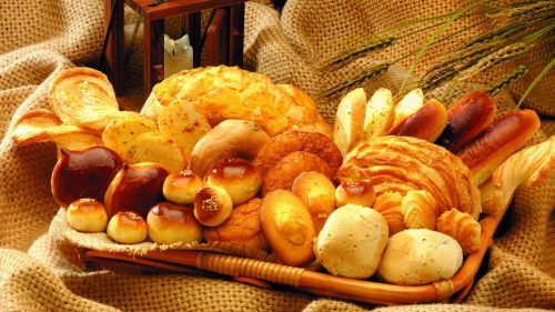 Many pastries on a tray HD Wallpaper