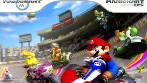Mario Kart Wii Luigi Circuit HD Wallpaper