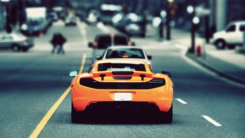 Mc Laren Orange HD Wallpaper