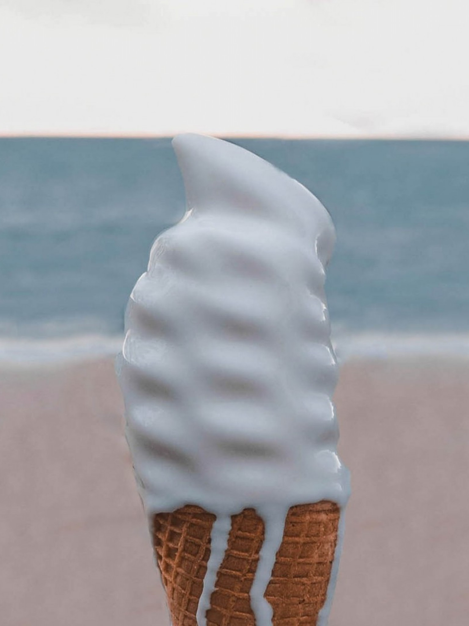 Melted ice cream HD Wallpaper