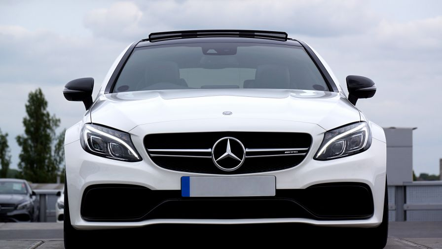 Mercedes C63 AMG front view HD Wallpaper