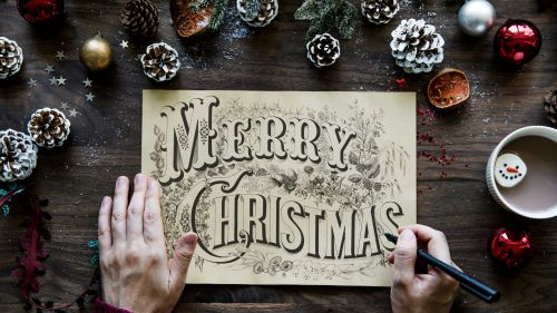 Merry Christmas Greeting Card HD Wallpaper