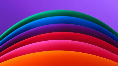 Multicolored curved lines HD Wallpaper