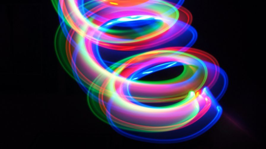 Multicolored spiral lines HD Wallpaper