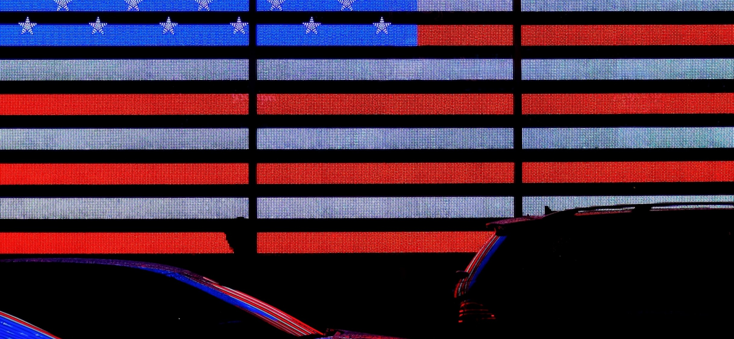 Neon American flag HD Wallpaper