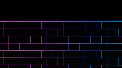 Neon tile wall HD Wallpaper