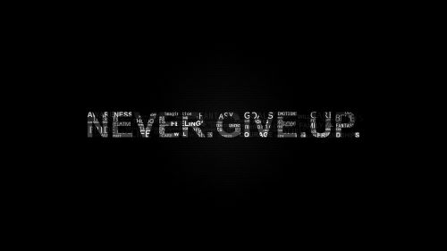 Never give up HD Wallpaper