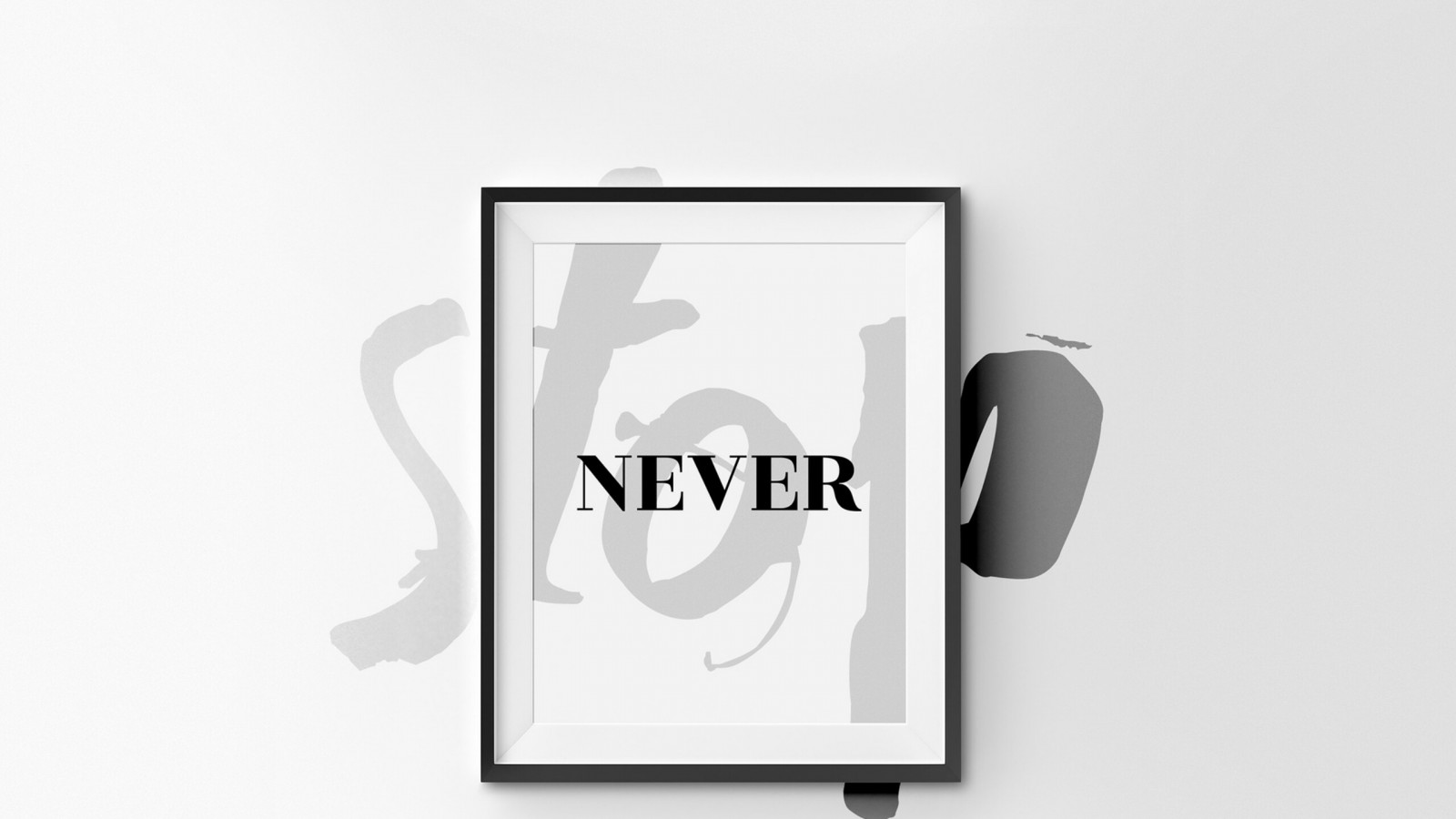 Never Stop Full HD Quote Wallpaper