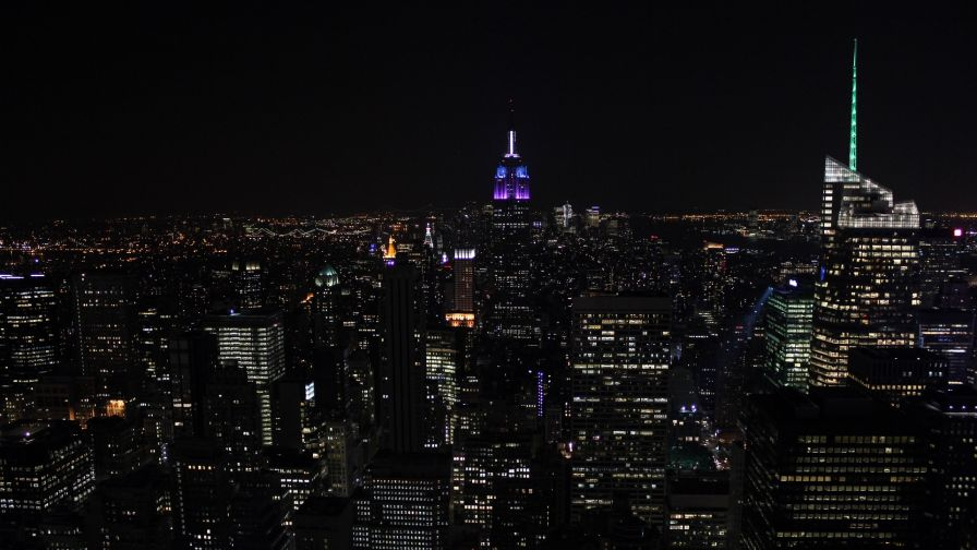 New York city lights HD Wallpaper