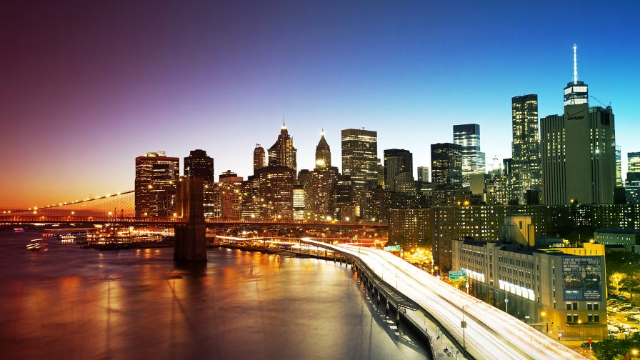 New York Skyline Wallpaper for Desktop and Mobiles