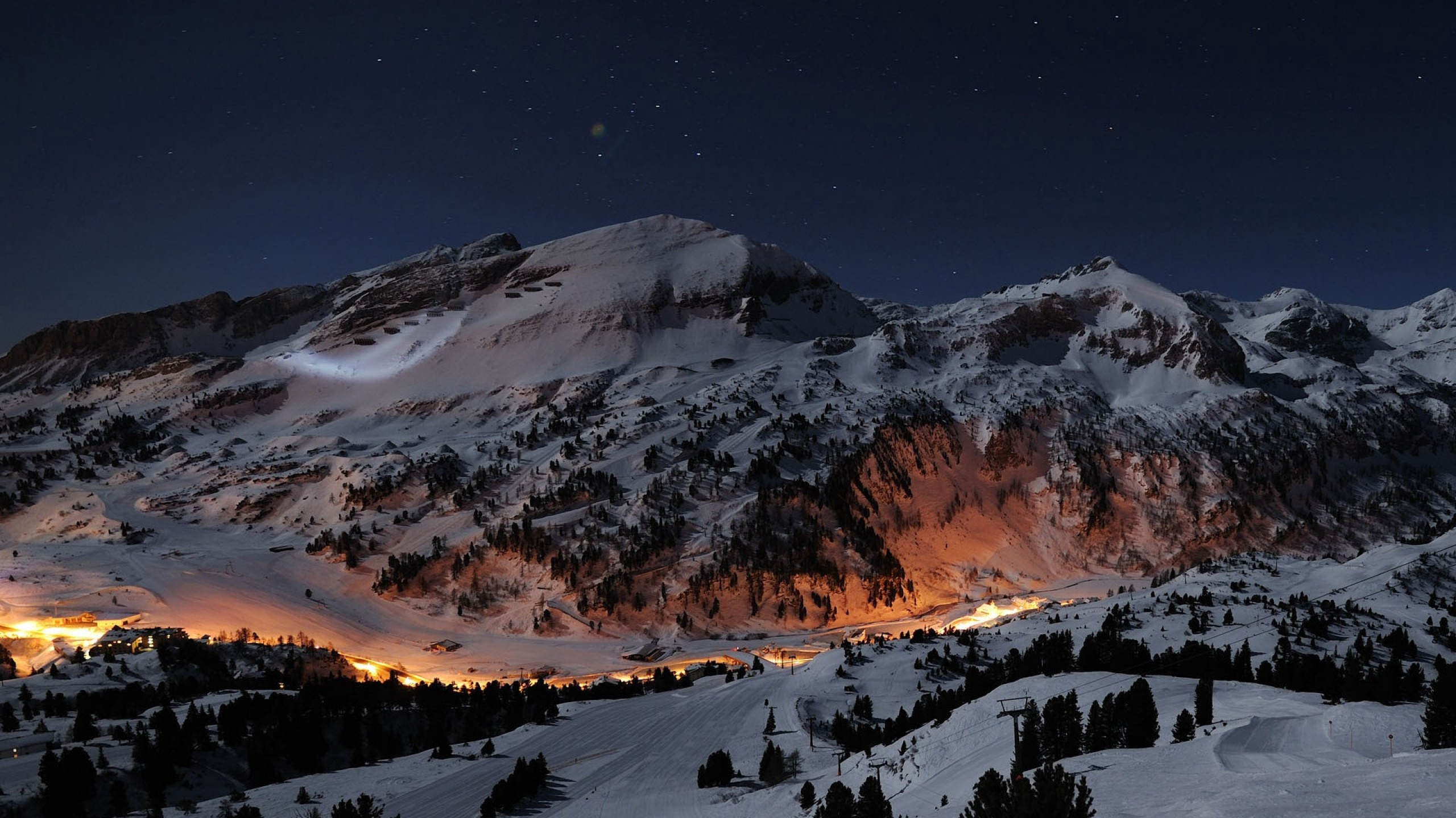Night at the Alps HD Wallpaper