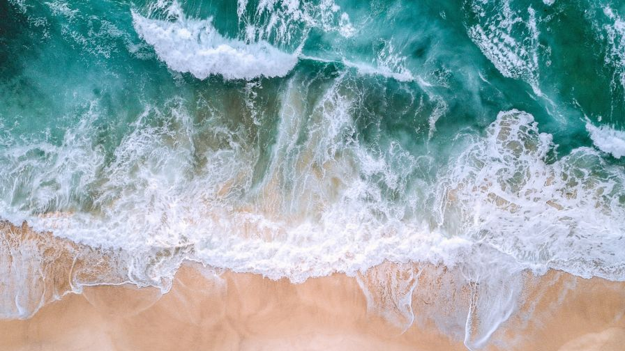 Ocean S Waves Aerial View Hd Wallpaper Wallpapers Net