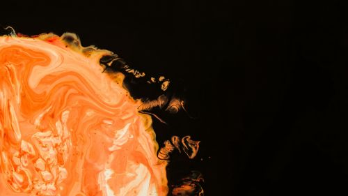 Orange paint splash HD Wallpaper