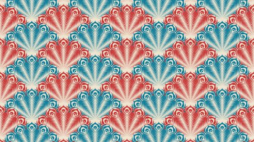 Peacock patterns HD Wallpaper