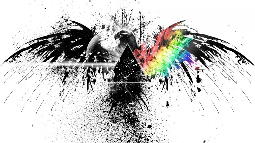 Pink Floyd colored HD Wallpaper