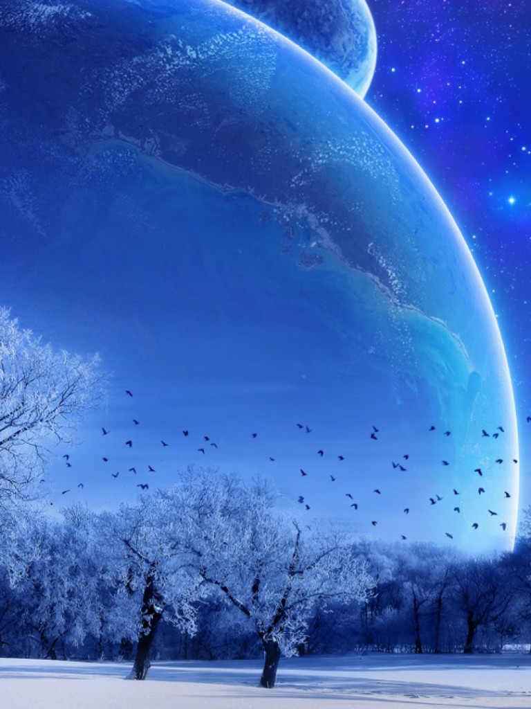 Planet blue HD Wallpaper