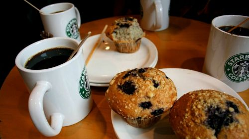 Morning in Starbucks HD Wallpaper