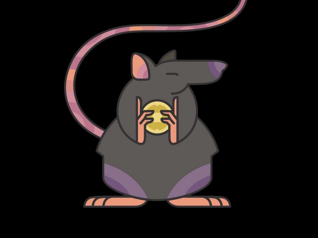 Rat with Coins HD Wallpaper