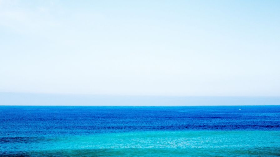 Relaxing sea horizon HD Wallpaper
