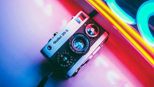 Retro camera HD Wallpaper