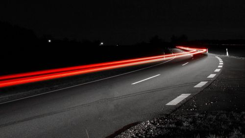 Road turn long exposure HD Wallpaper
