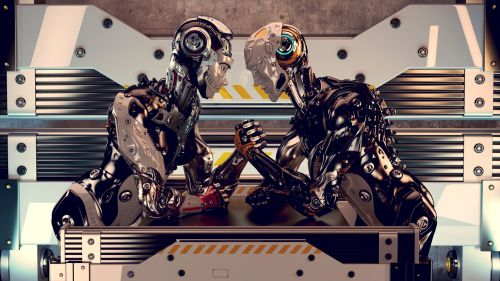 Robots wrestling HD Wallpaper