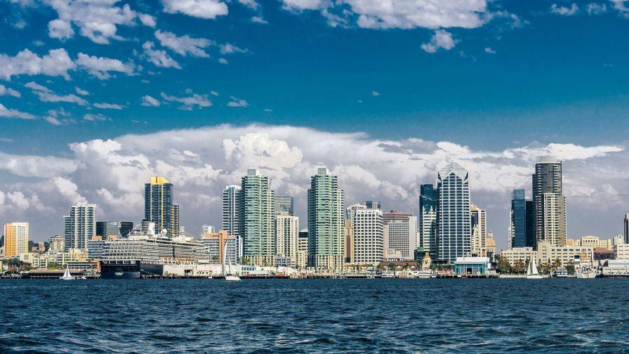 San Diego Skyline Hd Wallpaper Wallpapers Net