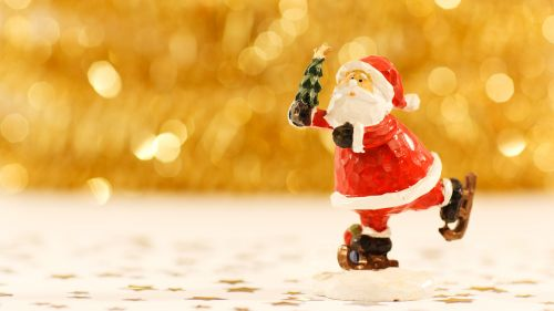 Santa Clause FigurineHD Wallpaper