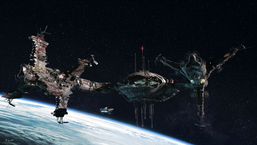 Sci-Fi space station HD Wallpaper