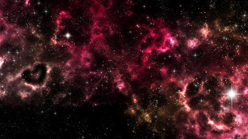 Shiny stars at a red space HD Wallpaper