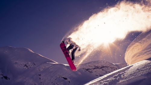 Snowboarding tricks HD Wallpaper