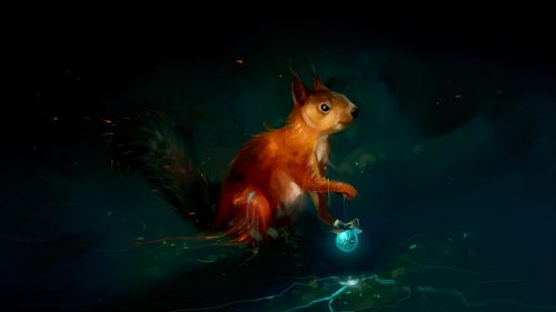 Squirrel painting HD Wallpaper
