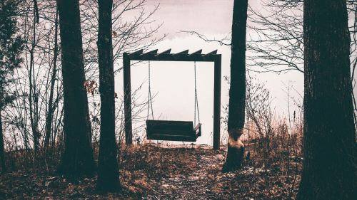 Swing at a cloudy weather HD Wallpaper