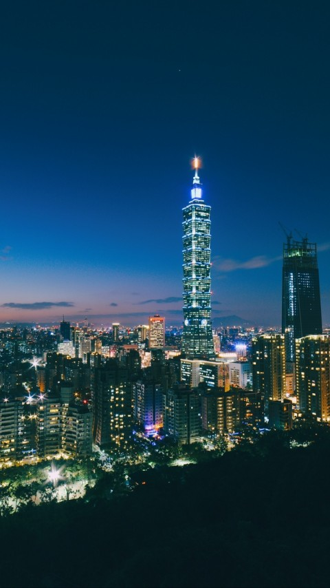 Taipei skyscrapers HD Wallpaper