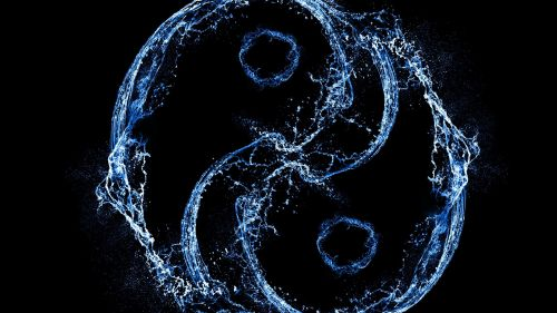 The Yin and Yang of Water and Energy HD Wallpaper