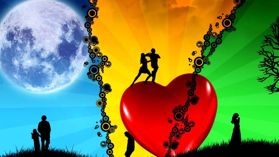 Three Way Love Hd Wallpaper for Desktop and Mobiles