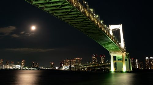 Tokyo bridge at night HD Wallpaper