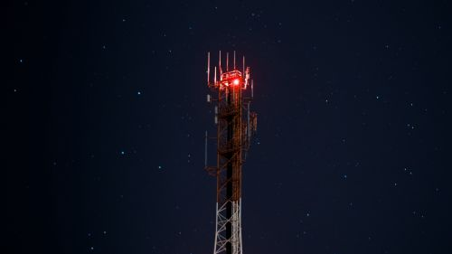 Tower at a starry sky HD Wallpaper