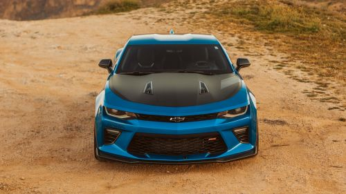 Tuned blue Chevrolet HD Wallpaper