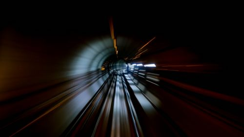 Tunnel in motion HD Wallpaper