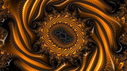 Twisted fractal shape HD Wallpaper