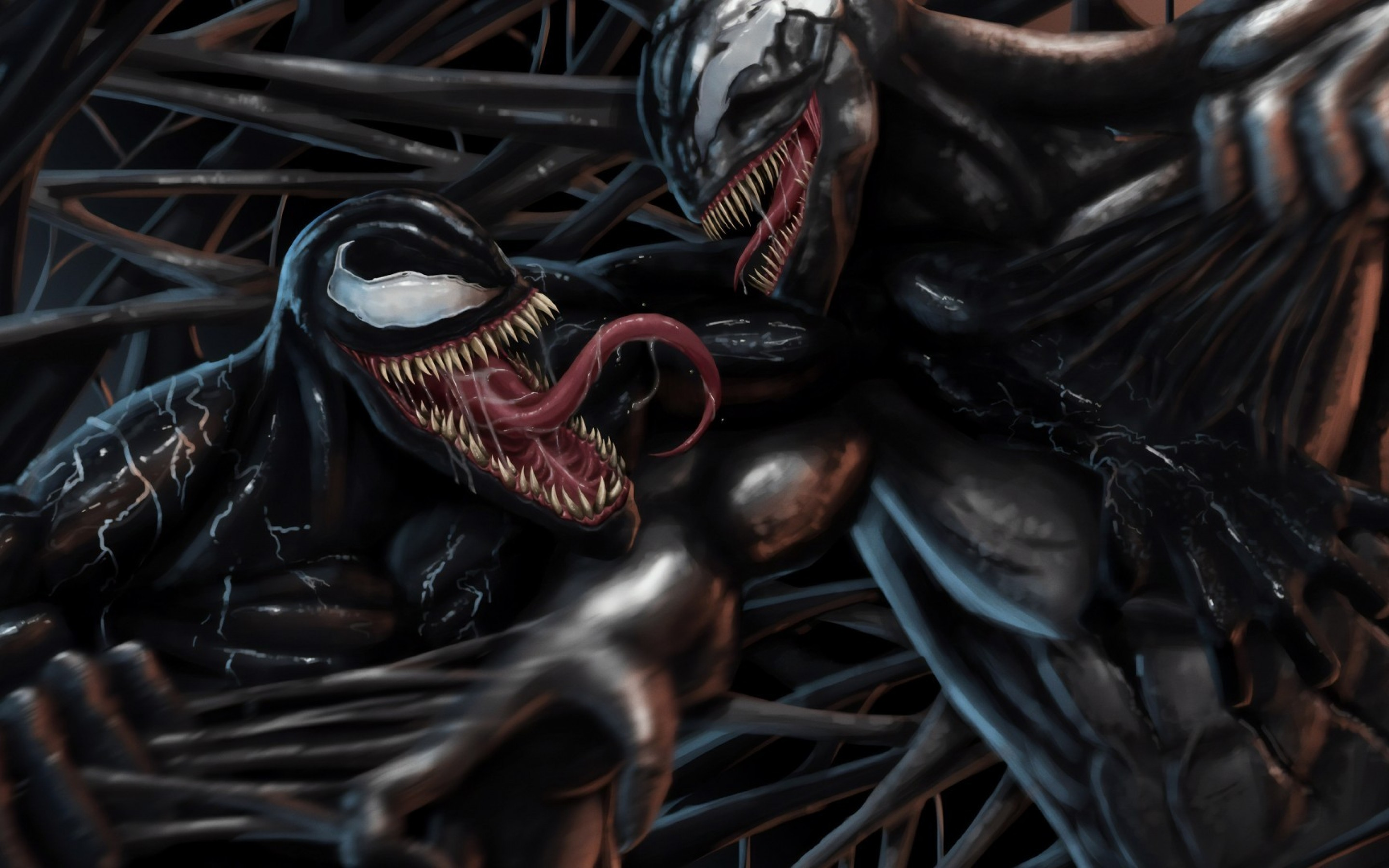 Venom vs Riot HD Wallpaper