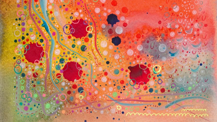 Watercolored Lines And Circles Hd Wallpaper Wallpapers Net