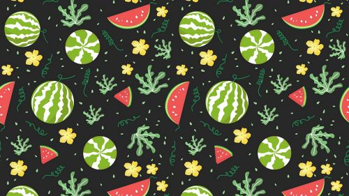 Watermelons and berries HD Wallpaper