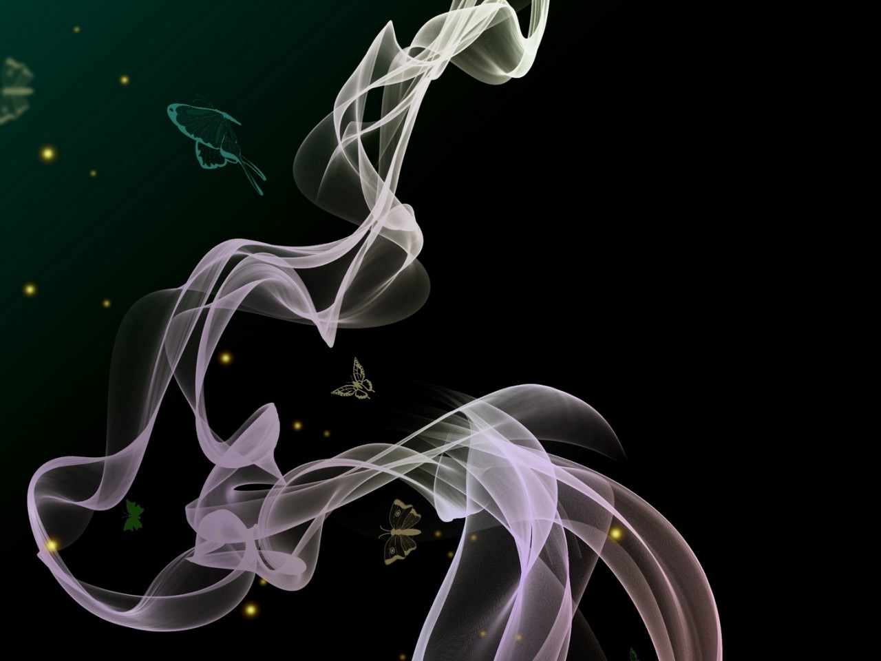 Wavy smoke HD Wallpaper