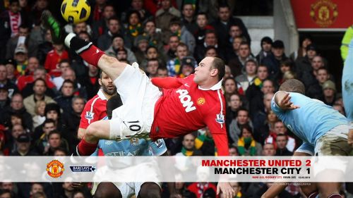 Wayne Rooney Bicycle Kick Goal HD Wallpaper